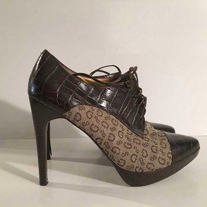 Guess logo ankle boots size 8